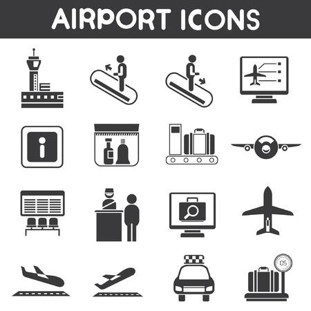air traffic: airport icons set