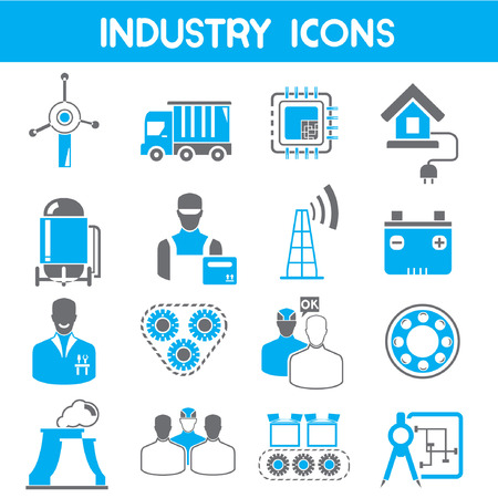 bearing: industry icons, blue theme color