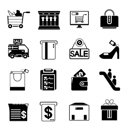 e wallet: supermarket icons Illustration