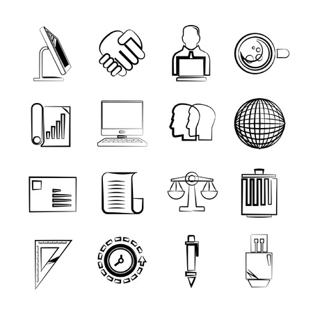 firm: sketch business icons