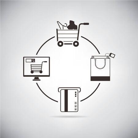 e systems: shopping Illustration