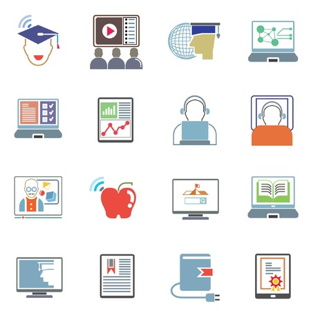 indoctrination: online learning icons