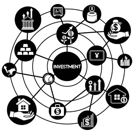 link building: investment, connecting network diagram