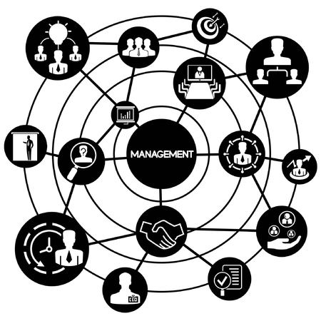 business management, connecting network diagram Stock Vector - 28789301