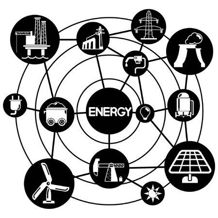 energy, connecting network diagram Vector