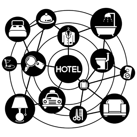 hotel management, connecting network diagram