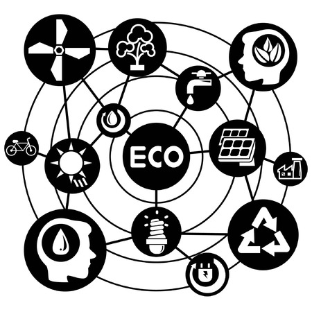 mind power: eco system, connecting network diagram
