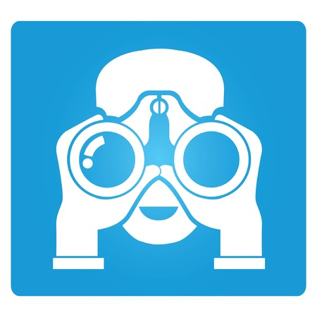 observe: survey, binocular Illustration