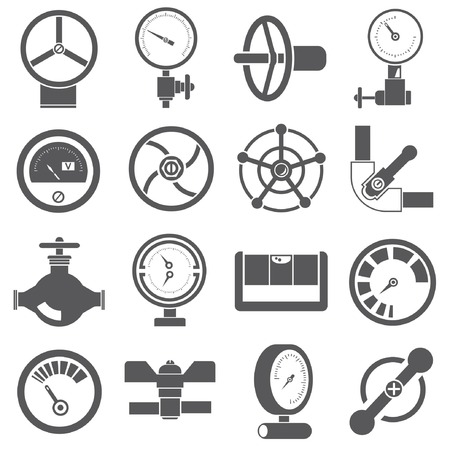 gauge and meter icons Vector