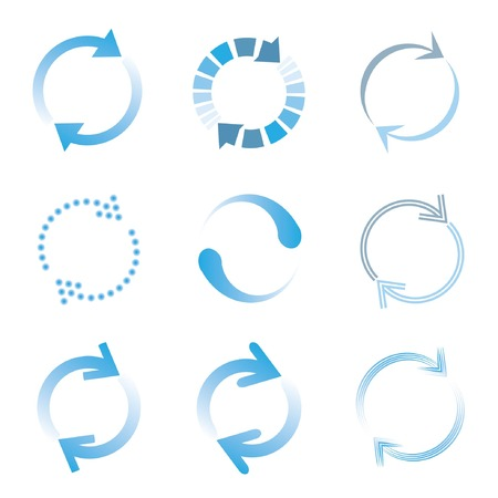 loading icons, blue color loading set Vector