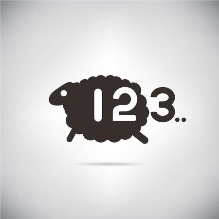black sheep: ovejas y el recuento de n�mero, concepto de cama tomo