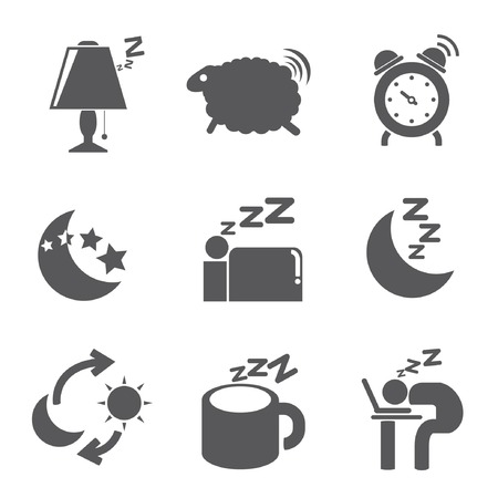 bed time icons Vector