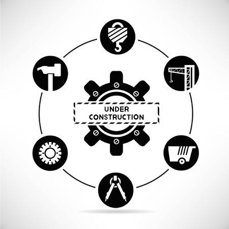 under construction diagram