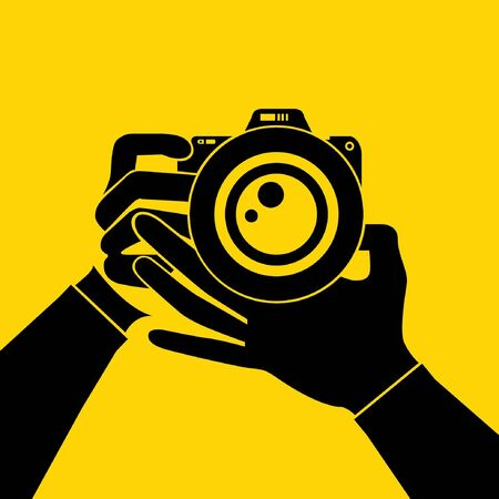 hand hold camera Stock Vector - 29185830