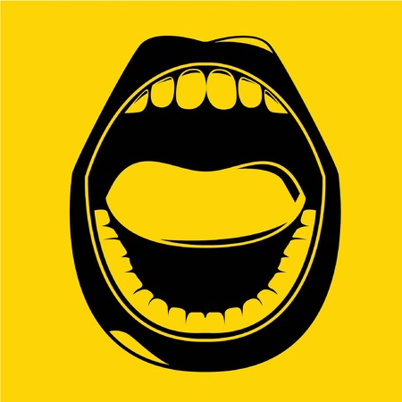 boca abierta: abrir la boca