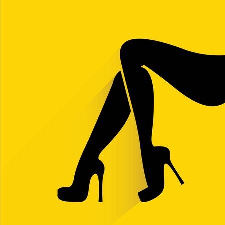 smooth shadow: women legs  Illustration
