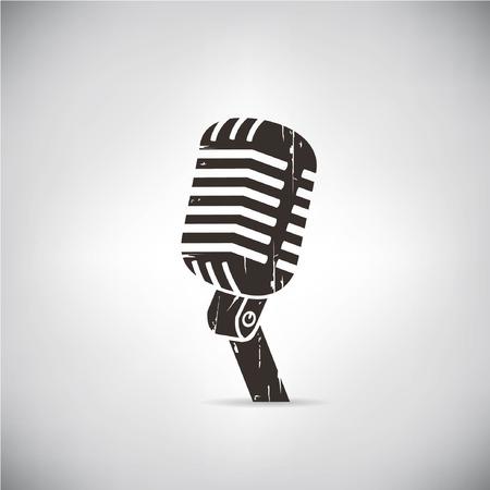 recording studio: vintage microphone