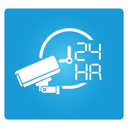 cctv on operation 24 hours Vector