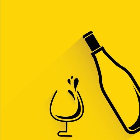 glassware: wine glass and bottle