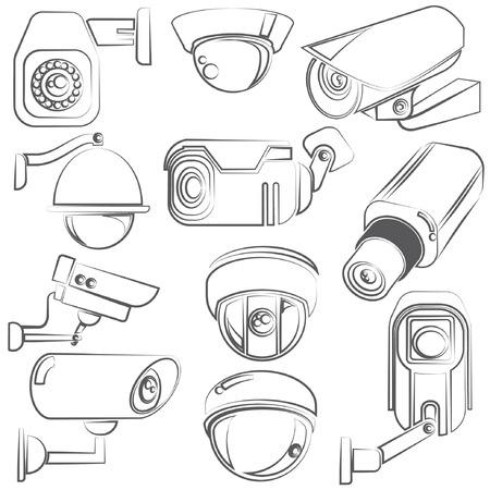 schetsen CCTV, videobewaking set