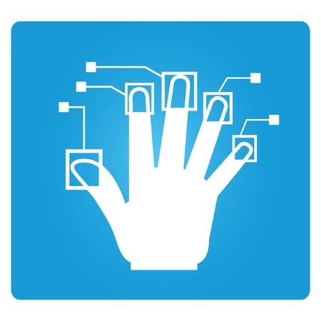 biometric: finger print symbol, biometric symbol Illustration
