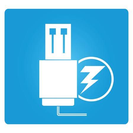 장 전기: usb 충전기 일러스트