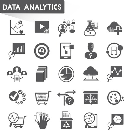 web analytics icons, data analytics icons Vector