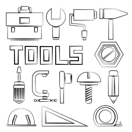 sketch tools collection Vector