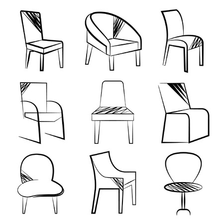 easy chair: sketch chair set