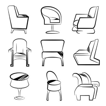 sketch chair set