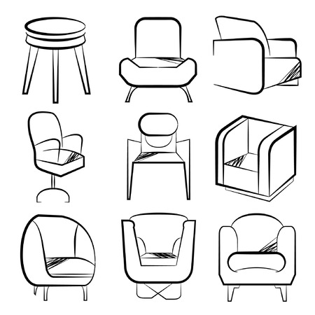 davenport: sketch chair set