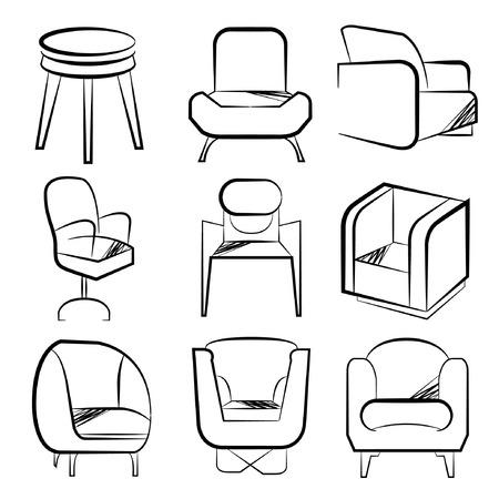 davenport: sketch chair set