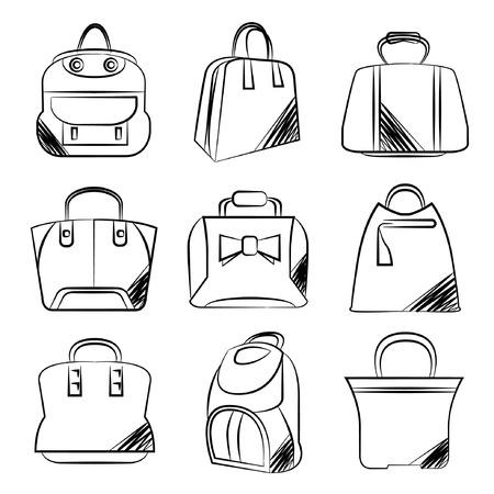 sketch fashion bag set Stock Vector - 29185960