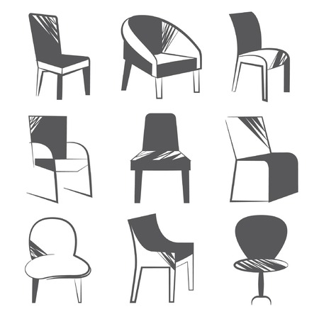 stools: chair set Illustration