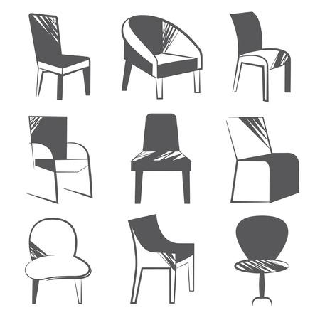 davenport: chair set Illustration
