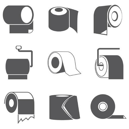 toilet paper roll icons  Vector
