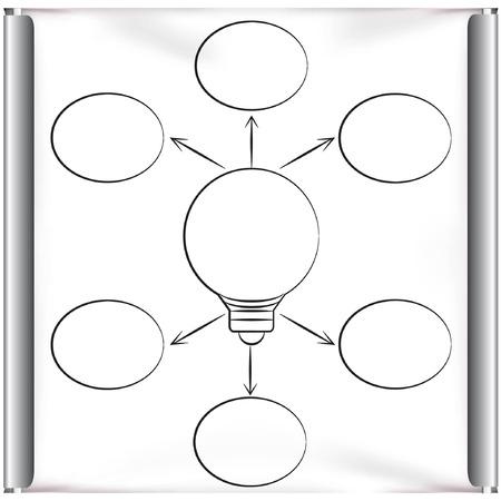 projector screen: idea lampadina a schermo del proiettore Vettoriali