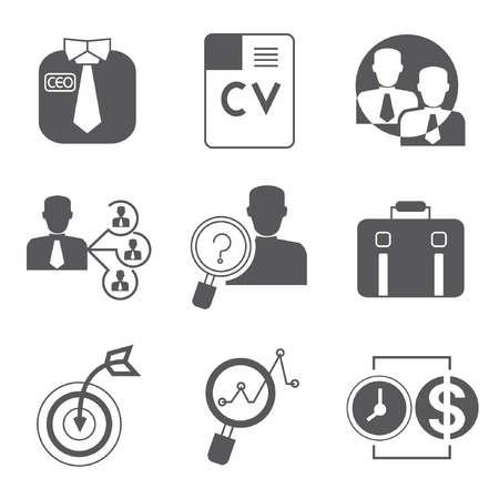 business roles: human resource icons Illustration
