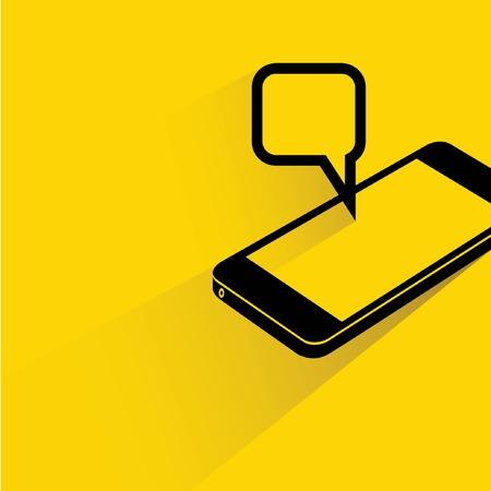 okostelefonok és a pop up üzenetben Illusztráció
