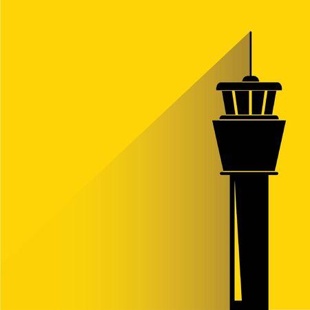 air traffic: torre de control de vuelo Vectores