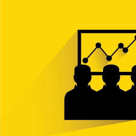 statics: business man looking at the growth graph