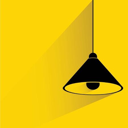 lamplight: hanging lamp, interior furniture Illustration