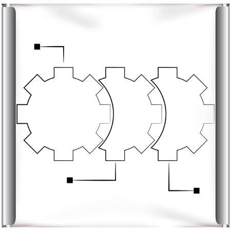 projector screen: ingranaggi schermo proiettore flusso