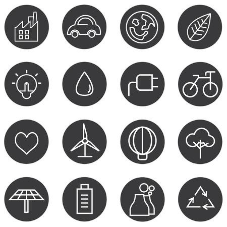 eco icons, energy icons Vector