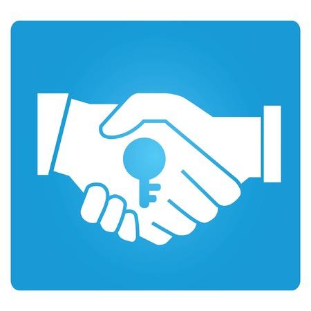 grant: hand shake Illustration