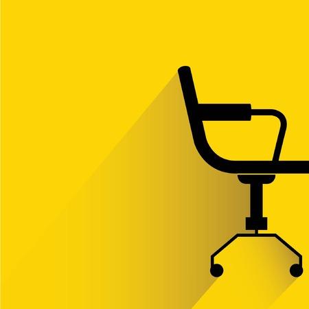 chaise sur fond jaune Vecteurs