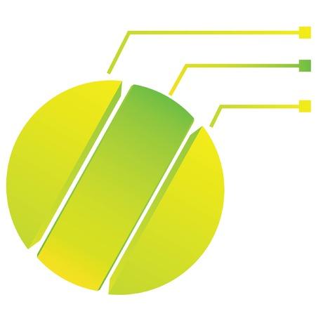 procession: green circle diagram, process template