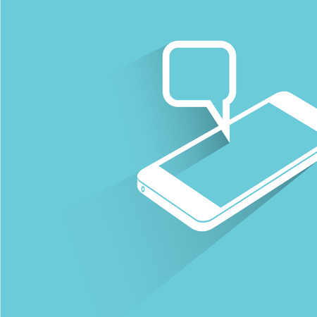 popup: smart phone, communication concept background Illustration