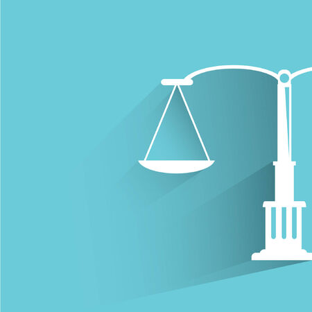 justice balance scale Vector