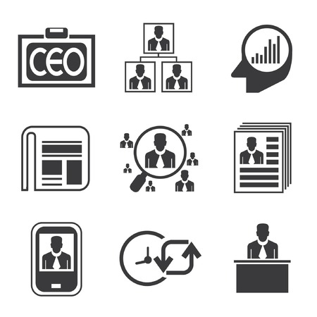 human resource affairs: management icons, business icons